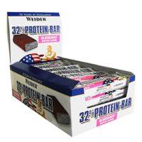 Weider 32% Proteine Bar – Aardbei, 24×60 Gram