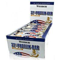 Weider 32% Proteine Bar – Banaan, 24×60 Gram