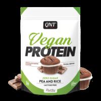 QNT Vegan Eiwitshake – 500 Gram, Chocolade Muffin