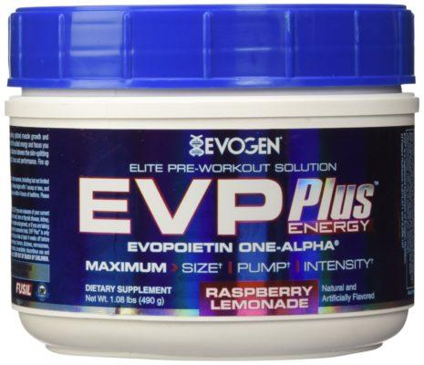 Evogen EVP Plus Energy Raspberry Lemonade 485 Gram