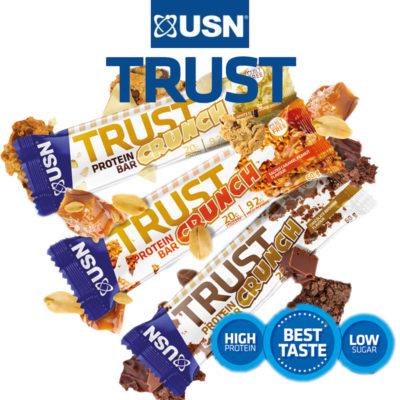 USN Trust Crunch Eiwitreep 12x60 Gram Mix Smaken