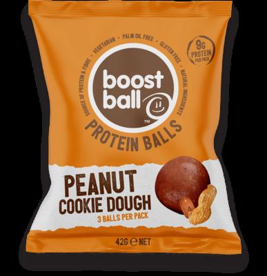BoostBall Protein Balls 42 Gram Peanut Butter Cookie Dough