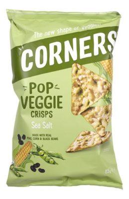 Cornerss Veggie Crisps Sea And Salt 85 Gram