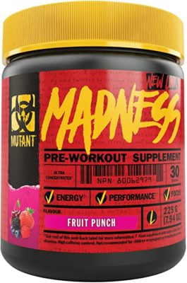 Mutant Madness Pre Workout Fruit Punch 225 Gram OK