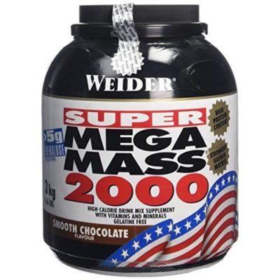 Weider Weight Gainer Mega Mass 2000 Chocolate 3000 Gram