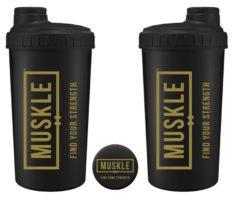 Muskle Shaker 700 ML – 700 ML, Zwart-Goud